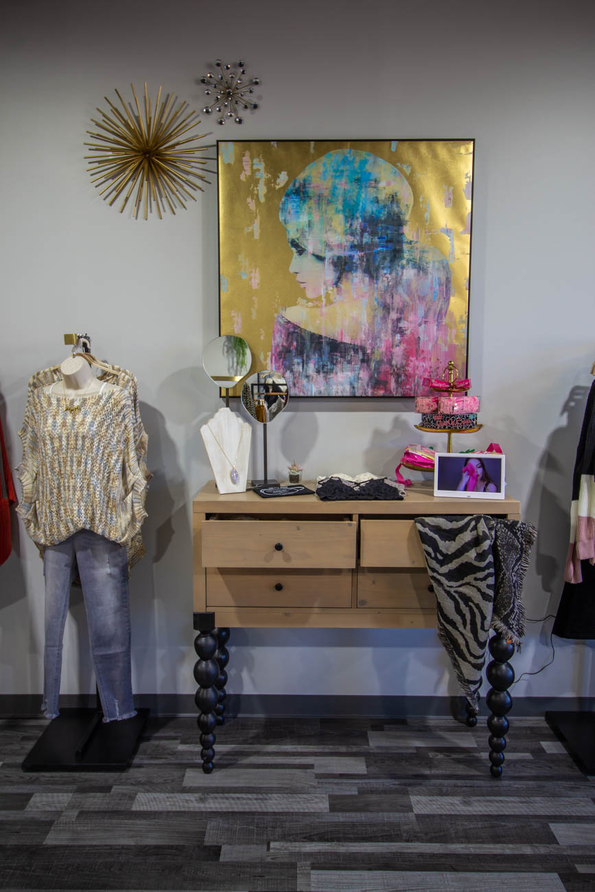 The sisters are supporters of the Northern Kentucky Children's Advocacy Center and love giving back to their community by hosting charity nights at the boutique. People can have private shopping events where proceeds of the sales go towards a charity that the hostess chooses. / Image: Katie Robinson, Cincinnati Refined // Published: 1.7.20