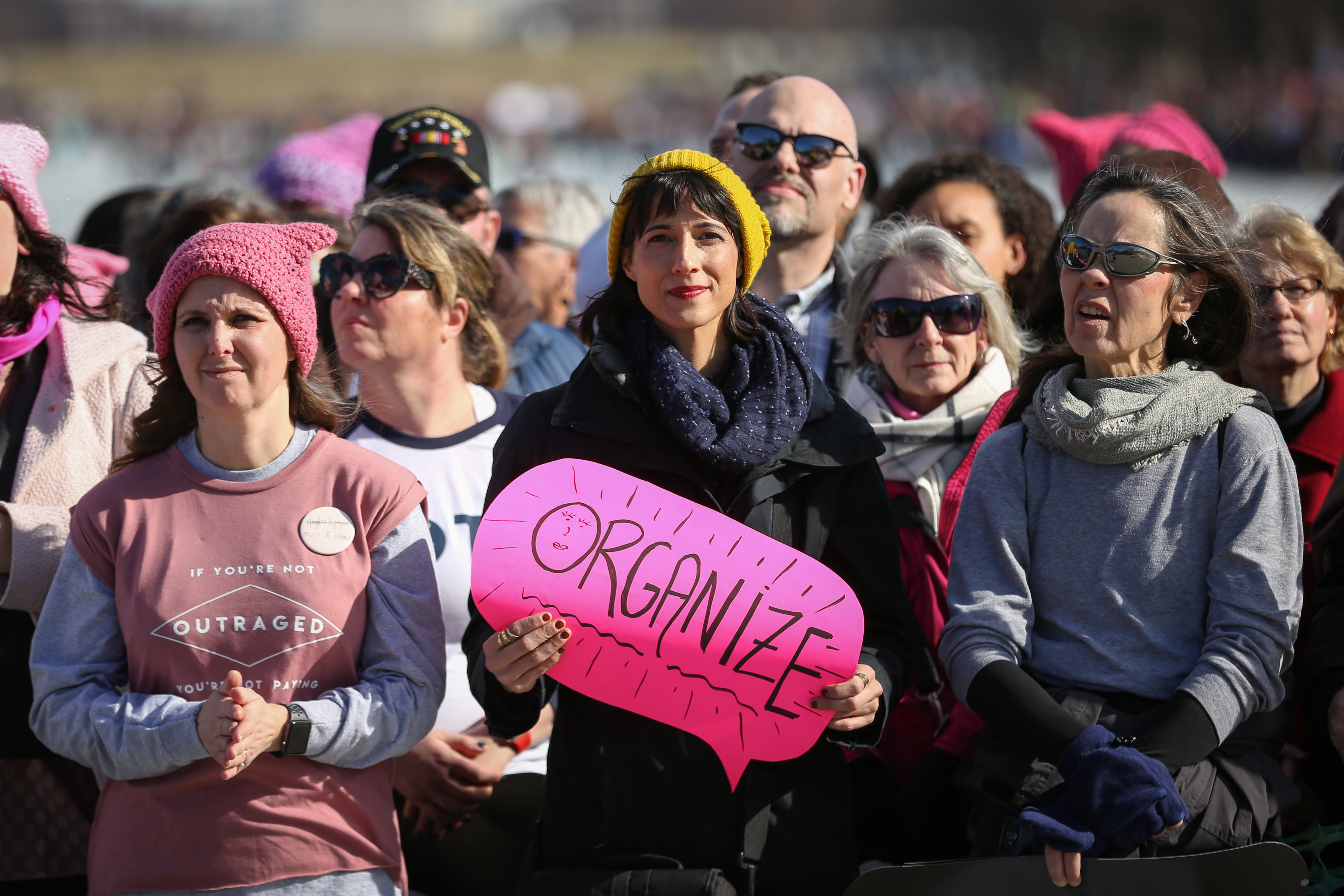"This year's theme was ""Power to the Polls."" Women were encouraged to run for office and support candidates that advocate for women in the 2018 midterm. (Amanda Andrade-Rhoades/DC Refined)"