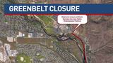 Section of Greenbelt closing for 8 months.