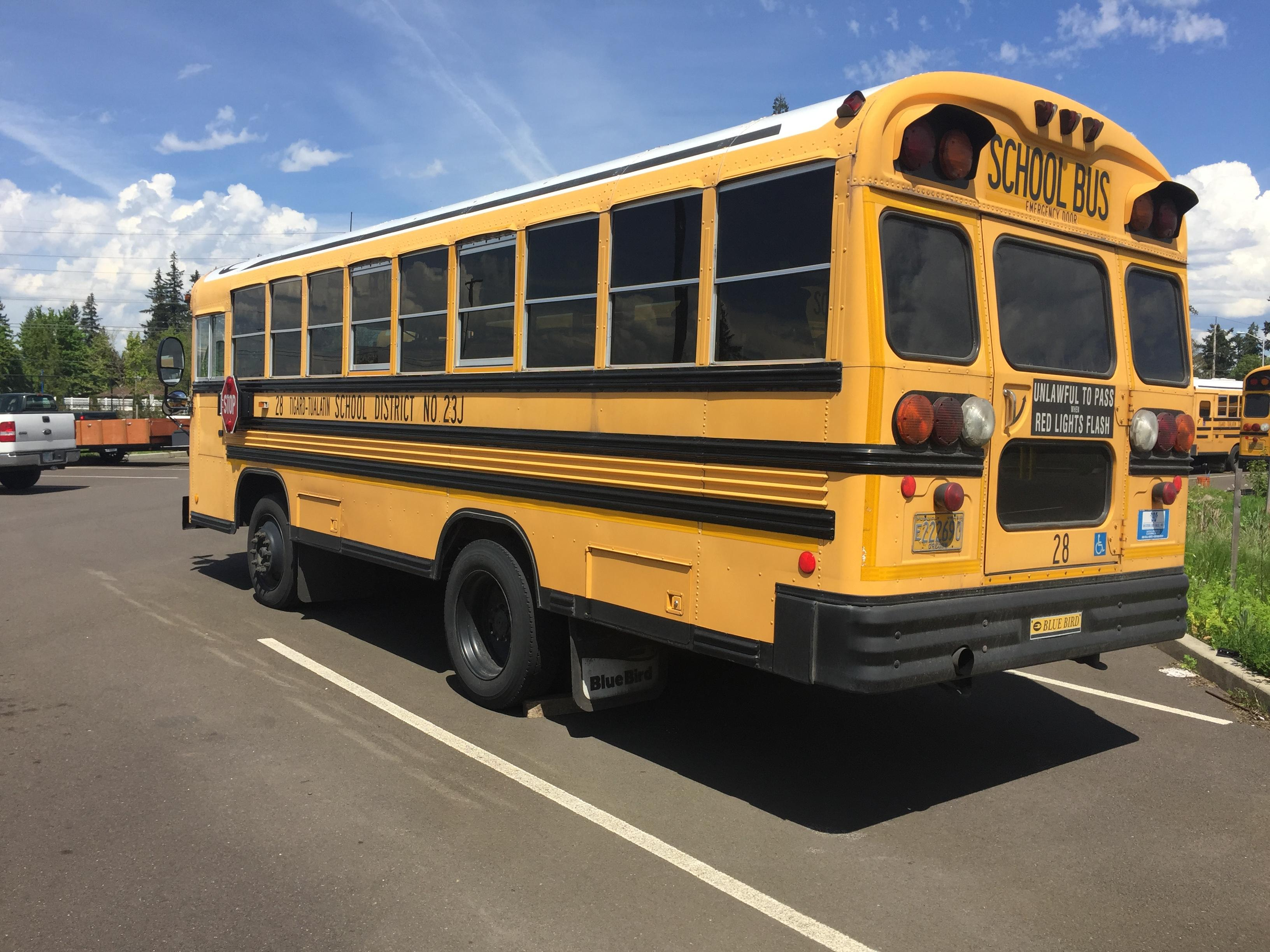 One of the Tigard-Tualatin School District school buses (KATU News photo)