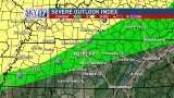 Storm risk downgraded for parts of Tennessee, Kentucky