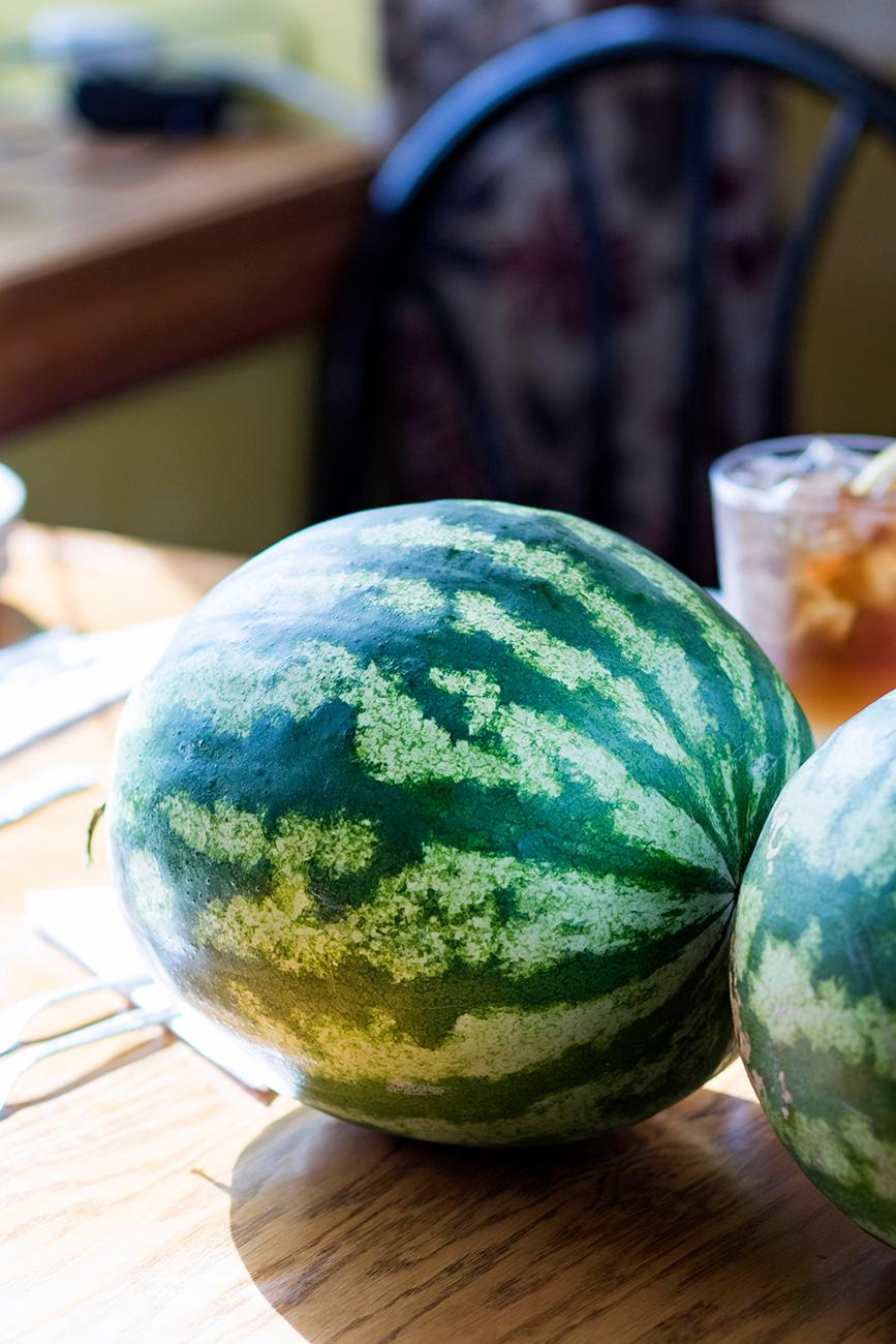 Watermelon grown in the garden / Image: Allison McAdams // Published: 10.21.18