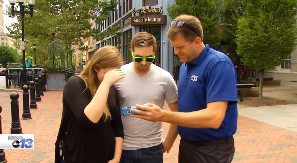 Locals react to Donald Trump's first ad buy of 2016 general election airs in NC (Photo credit: WLOS staff)