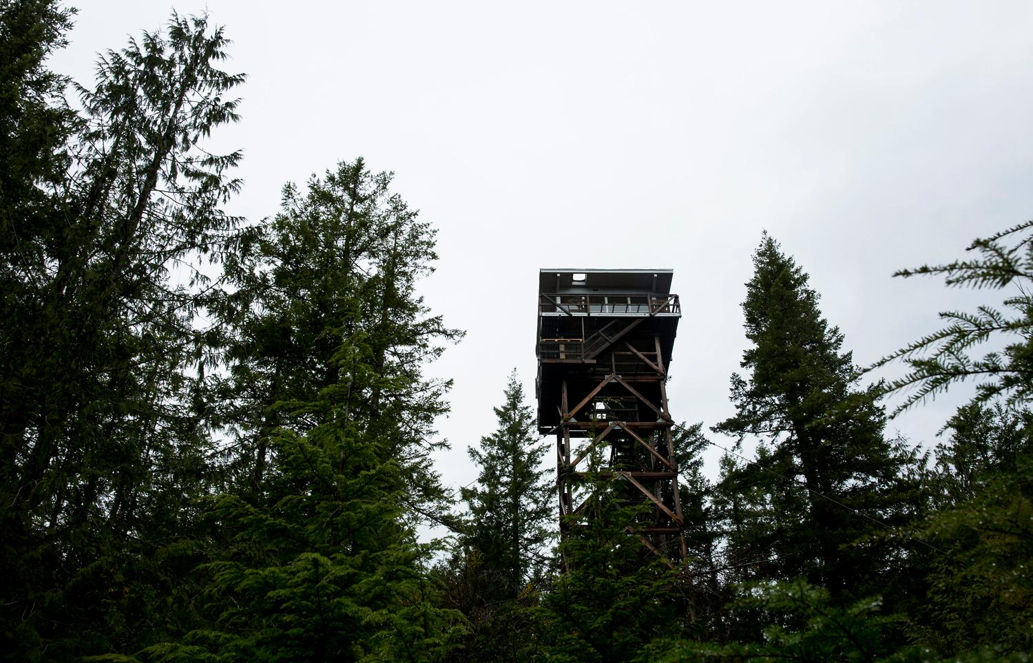 The Heybrook Lookout Tower hike is a short, moderately steep 2.6 mile there-and-back hike with 850 feet of elevation gain and sweeping views of the Cascades. After a climb through moss covered forests, the reward is an incredible view of Baring Mountain. Filson, the clothing company, recently partnered with the National Forest Foundation to renovate the tower and is now one of two lookout towers in Washington state available to reserve through recreation.gov. (Sy Bean / Seattle Refined)