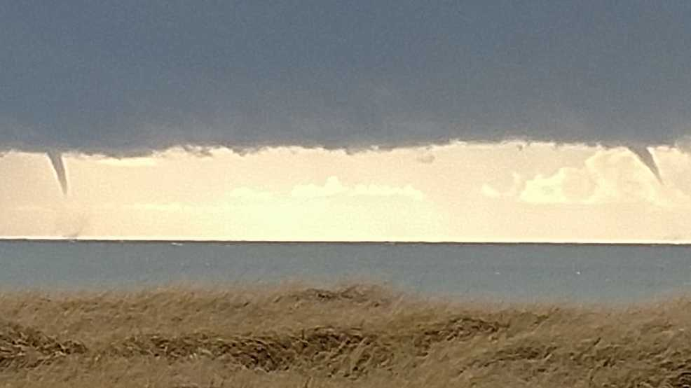 Twin waterspouts spotted off Ocean Shores