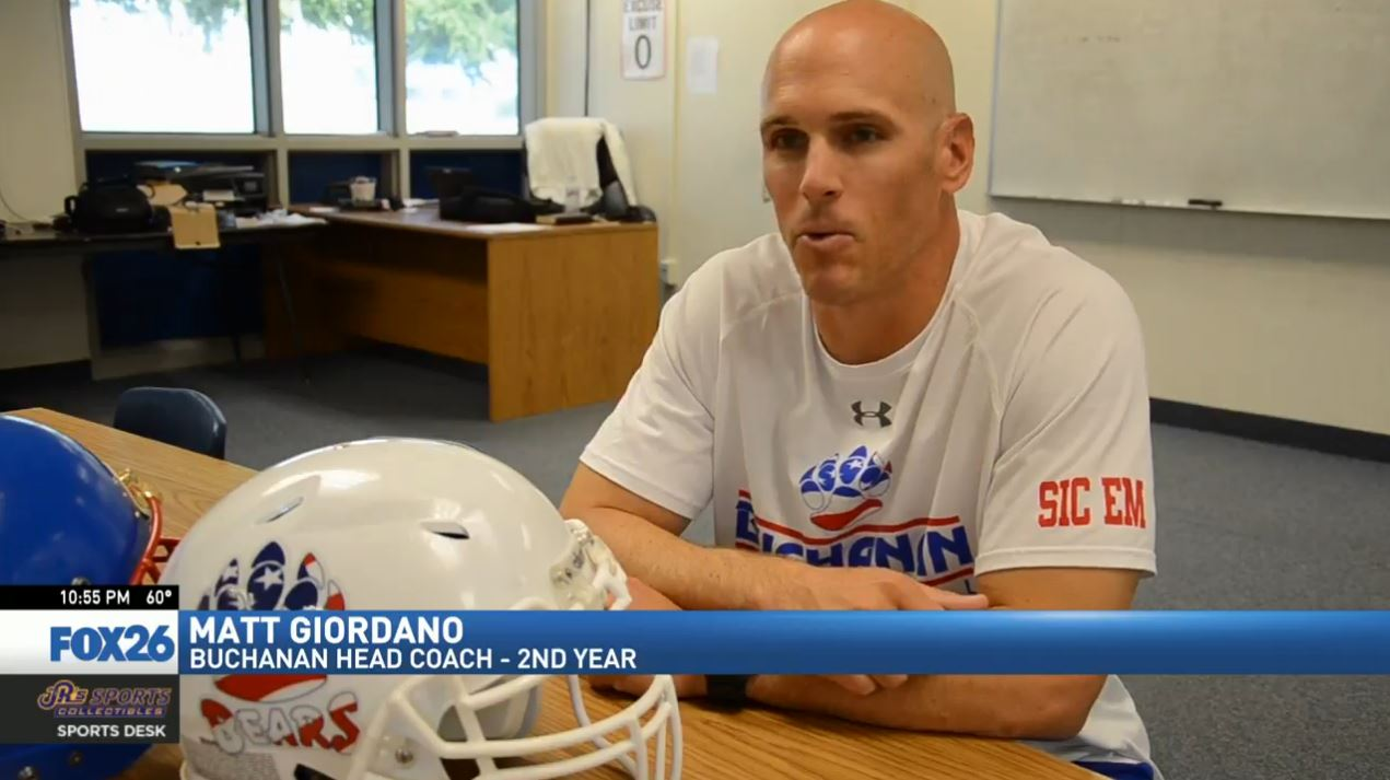 There aren't many, if any, Valley high school coaches with a playing resume like Buchanan's Matt Giordano, with 9 seasons in the NFL as a defensive back.