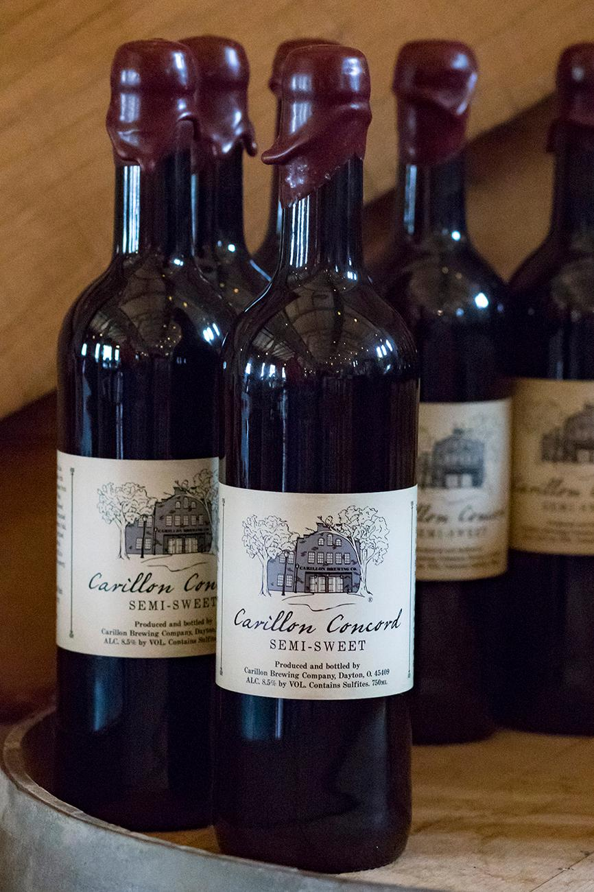 Miami Valley historically claimed two wine grape varieties: Catawba and Concord. Carillon Concord is made with aromatic Concord grapes from the Ohio River Valley. Fermented and finished in American Oak. / Image: Allison McAdams // Published: 1.16.18<p></p>
