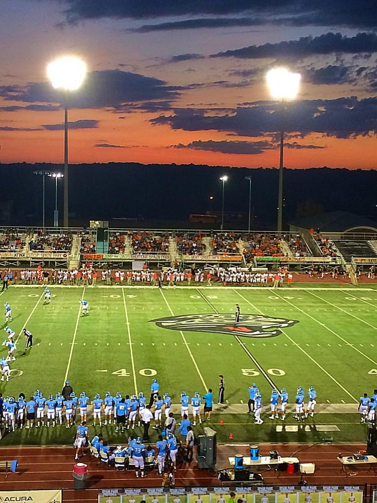 Sunset photo at Spain Park-Austin Friday night, August 22, 2014.