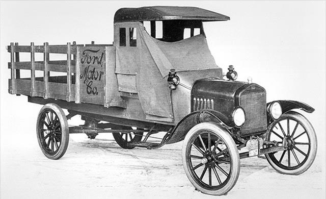 The Ford TT, which came out in 1917, was Ford's first designed-as-a-truck truck. This was no lightweight either. It had a rated cargo capacity of one ton, as much as an F-350 today.