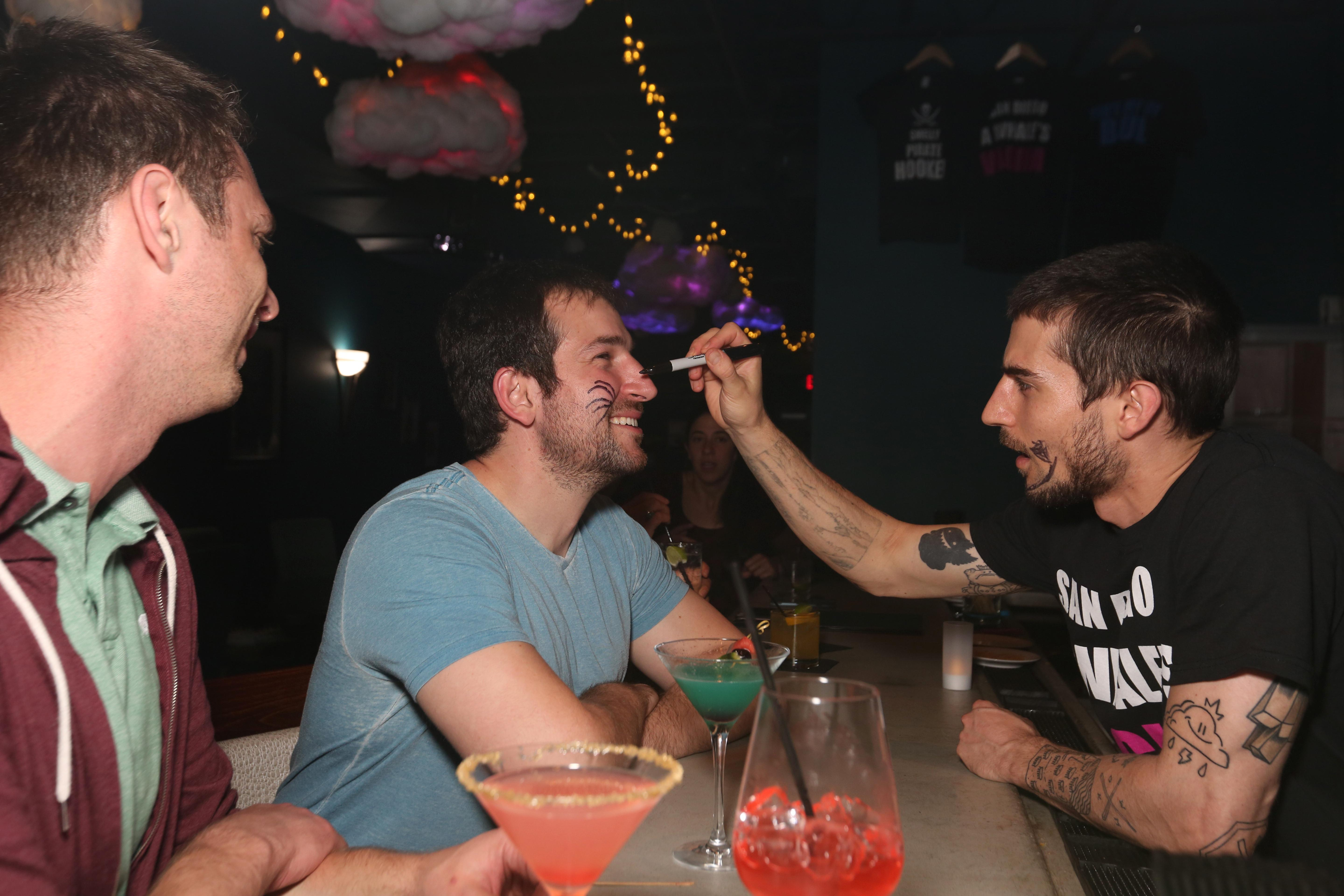 If you let the bartenders draw on your face, you get a free shot. (Amanda Andrade-Rhoades/DC Refined)
