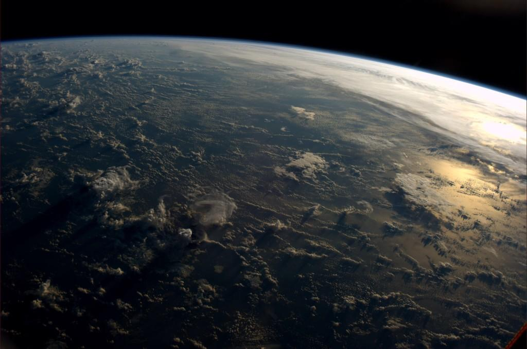 Sunsets create extremely rich views up here.  (Photo & Caption: Reid Wiseman, NASA)
