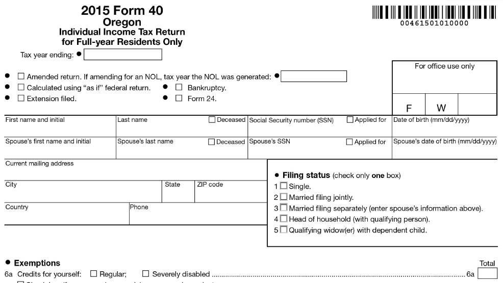 Oregon State Tax Refund Status Information - OnLine Taxes