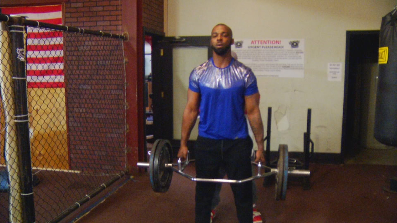 Antonio Koone played football at Asheville High School in 2004, went to junior college, and then on to Louisiana Tech. He had some reversals in his life, but caught on with the Blue Ridge Raiders semi-pro team, and that has given him a chance he's always wanted -- a shot at the NFL. (Photo credit: WLOS Staff)