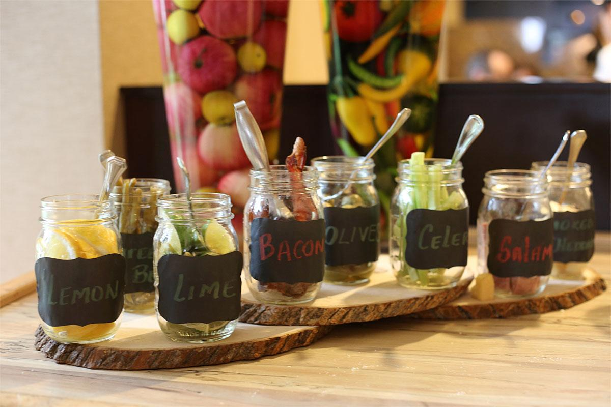 Eques offers $3 Bloody Marys ($5 premium liquor) of all sorts with different mixes and accoutrements. (Image: Kristi Waite/Seattle Refined)