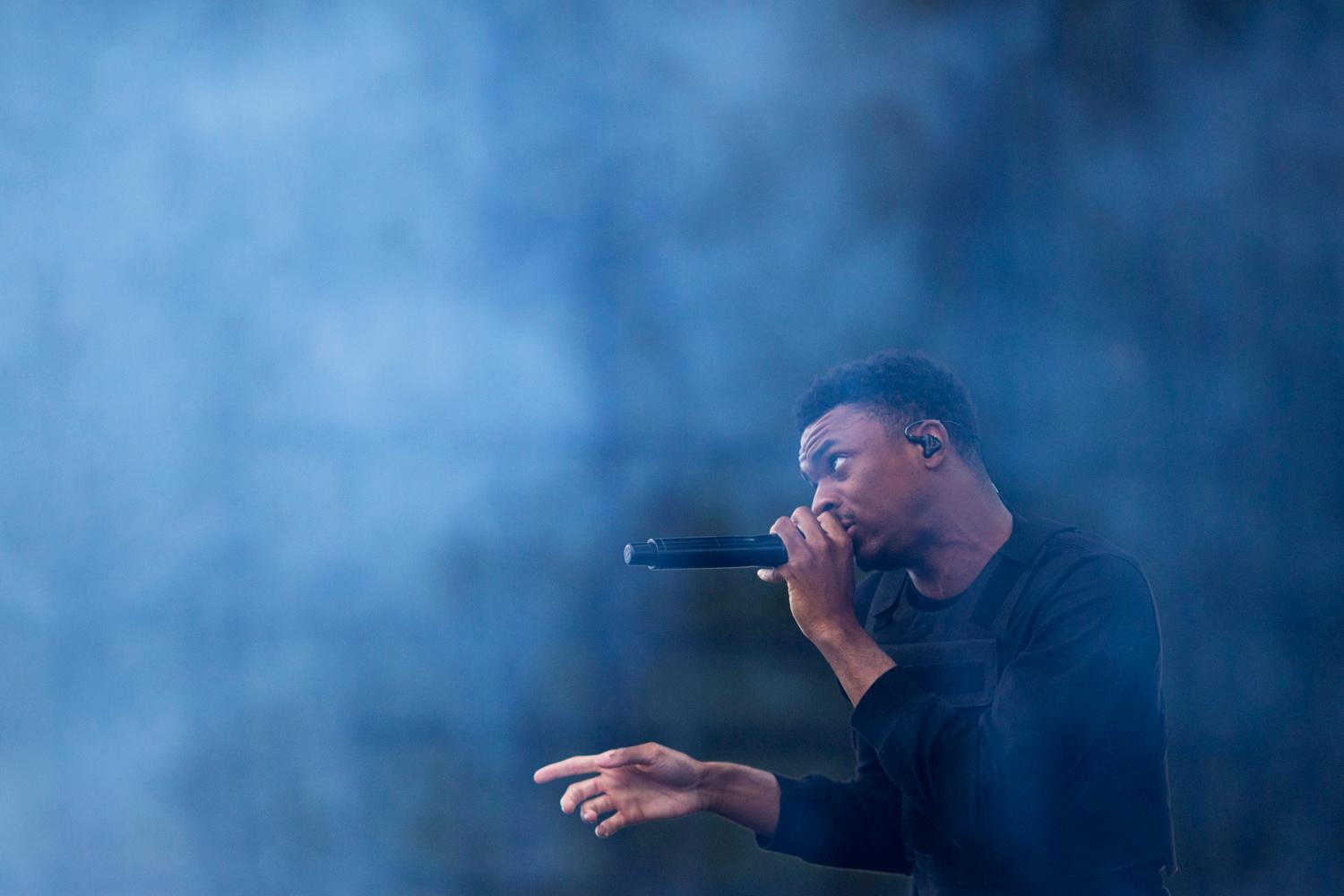 Vince Staples performed on the first day of the annual Sasquatch! Music Festival. The three-day festival runs throughout the Memorial Day Weekend, from May 25-27, 2018. (Sy Bean / Seattle Refined)