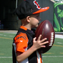 "4-year-old battling cancer ""graduates"" high school, practices with the Bengals"