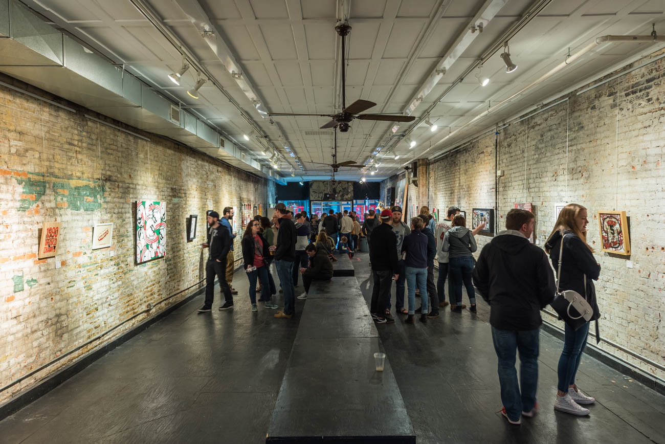 BLDG Gallery's fifth annual 199C was held on Saturday, March 31, 2018. 199C is a collaborative art event and community block party celebrating two great loves: Art and the Cincinnati Reds. / Image: Mike Menke // Published: 4.1.18