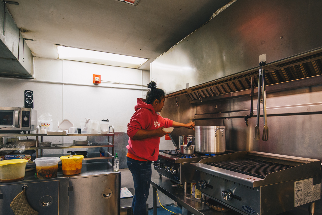 Vy Sok is the co-owner and head chef. / Image: Catherine Viox // Published: 2.24.19