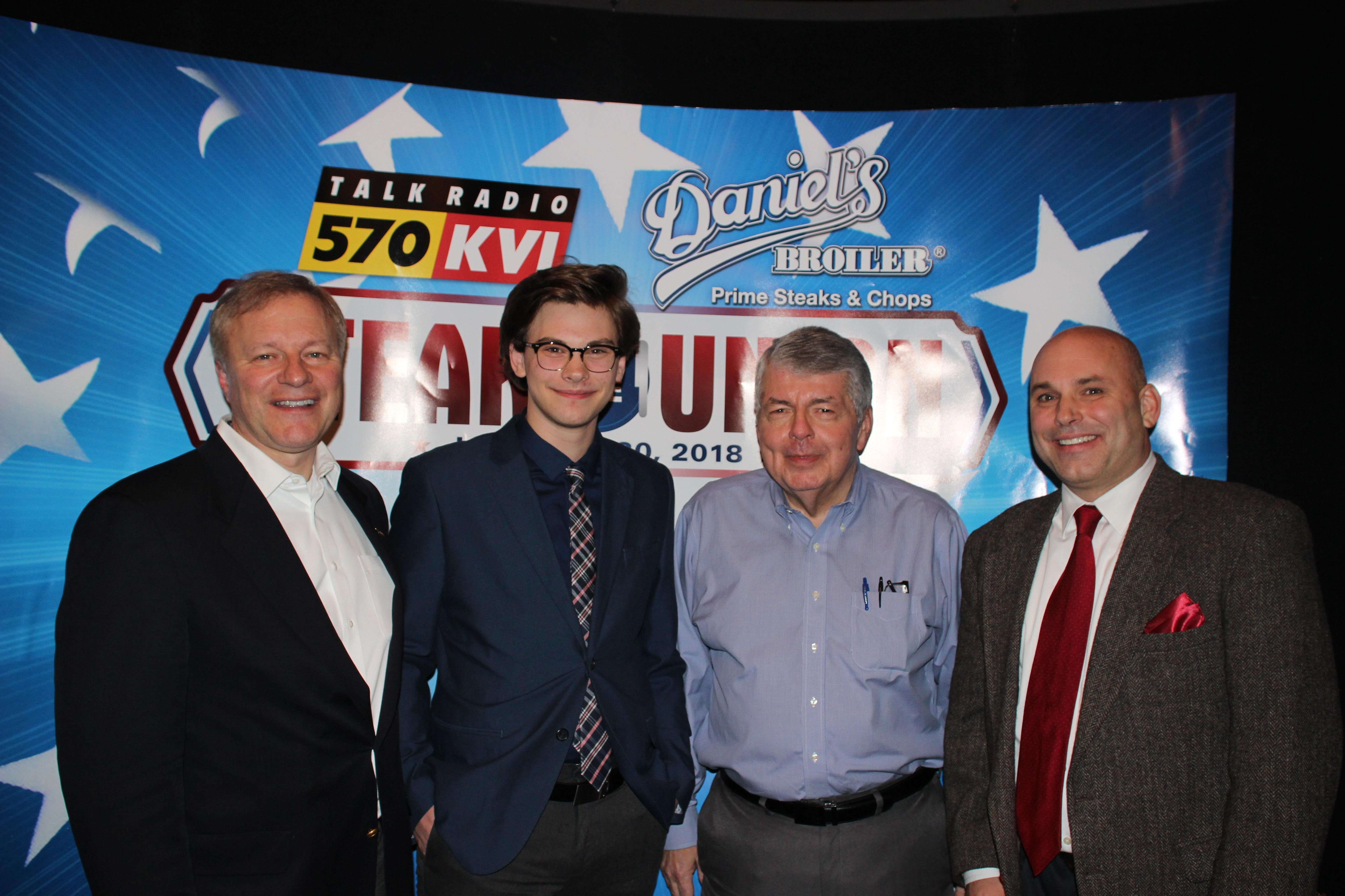"570 KVI's ""Steak of the Union"", January 30th, 2018 at Daniel's Broiler"
