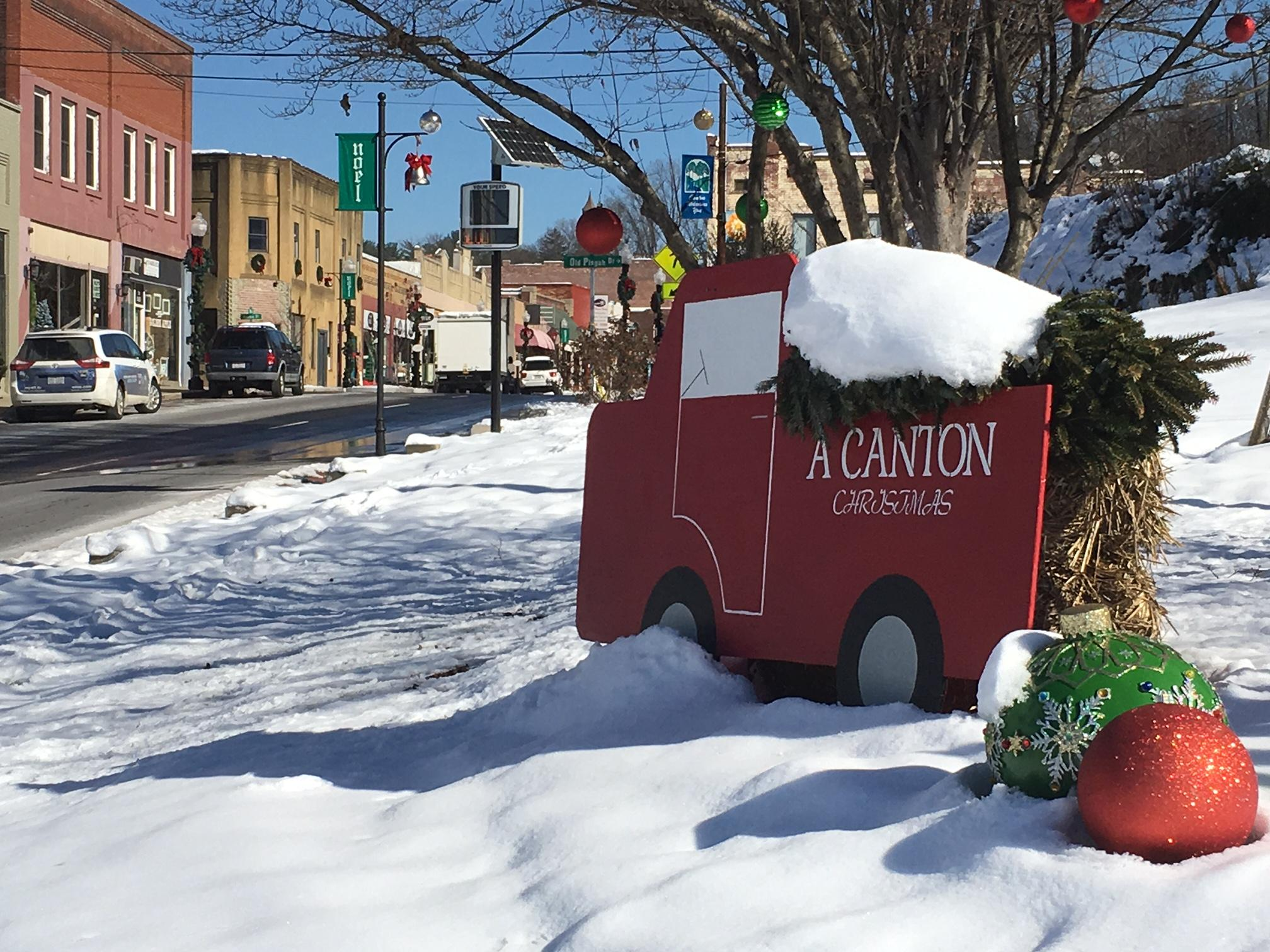 Canton town leaders said their Christmas parade last week was a huge success. But they also said there was an unwelcome presence. A group called Identity Europa placed fliers along the parade route. (Photo credit: WLOS staff)