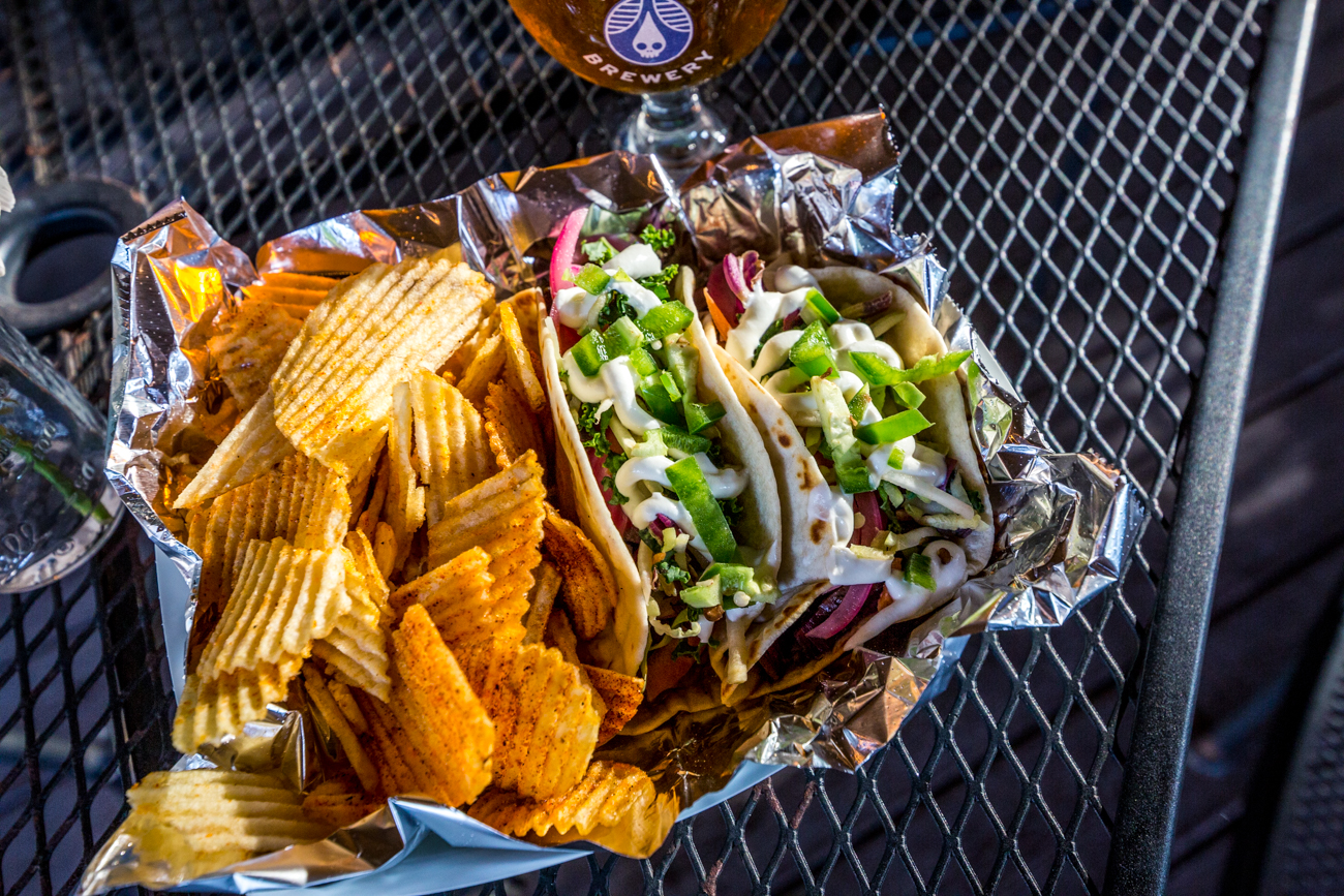 Chips and pulled pork tacos / Image: Catherine Viox // Published: 7.19.19