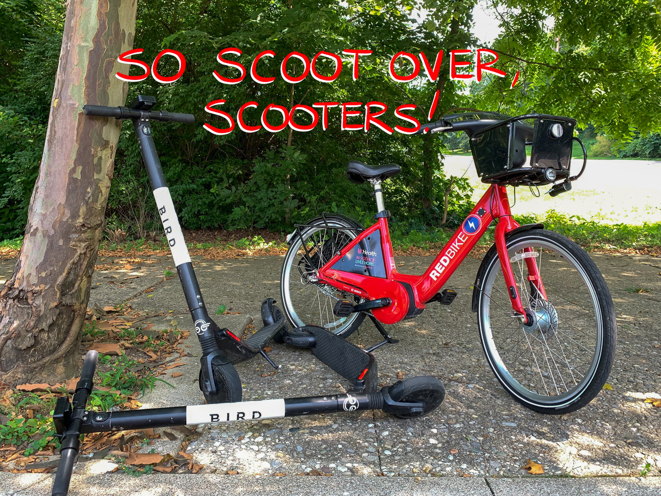 EDITORIAL NOTE: Red Bikes {>} scooters / Image: Phil Armstrong // Published: 7.13.19