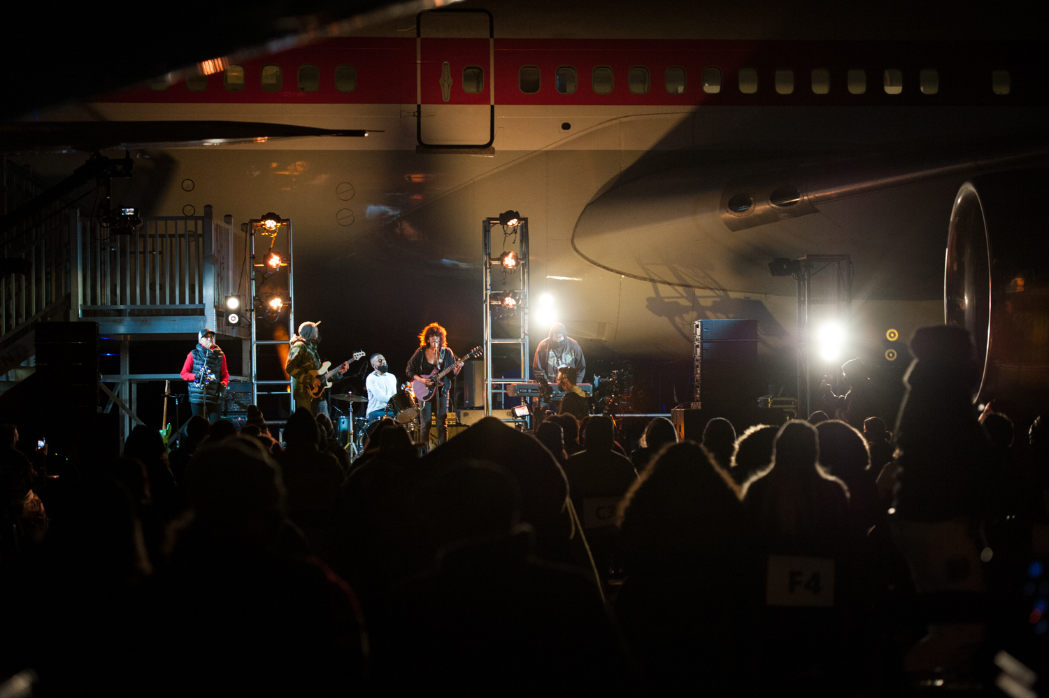 "It was the first socially distant, outdoor concert Seattle has seen - and it sold out! The Black Tones and Payge Turner played to a full, but distanced house, at the Museum of Flight on March 28. This event was hosted by Safe and Sound Seattle, an organization aiming to help venues host COVID-compliant events in an effort to keep them open. They worked closely with{&nbsp;}state and local guidelines to ensure the layout provided coordinated protocol, plenty of space for monitored social distancing, and ease of access. Safe and Sound plans on hosting more concerts in the near future, so if you feel comfortable and are dying for some live music - you can find more info{&nbsp;}<a  href=""https://www.safesoundseattle.org/mission-statement"" target=""_blank"" title=""https://www.safesoundseattle.org/mission-statement"">online</a>. (Image: Elizabeth Crook / Seattle Refined)"