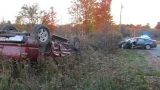 Crash causes rollover in West Gardiner