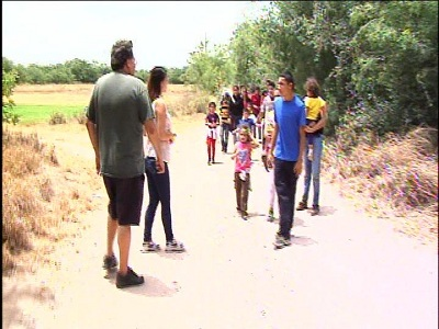 Action 4 News encountered woman and children crossing the border