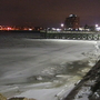 Authorities assist woman off ice in Fall River