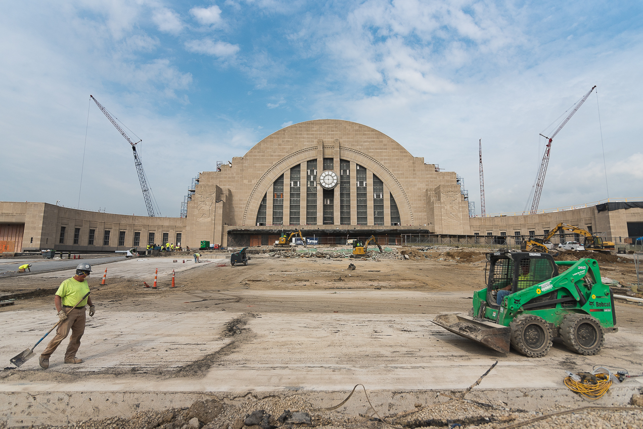 "Pictured: Union Terminal during construction from the gallery ""Progress Report: A Look At The Construction Areas Of Union Terminal"" / Image: Phil Armstrong, Cincinnati Refined // Published: 12.31.17"