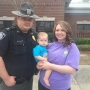 Officer, baby reunite 8 months after choking incident
