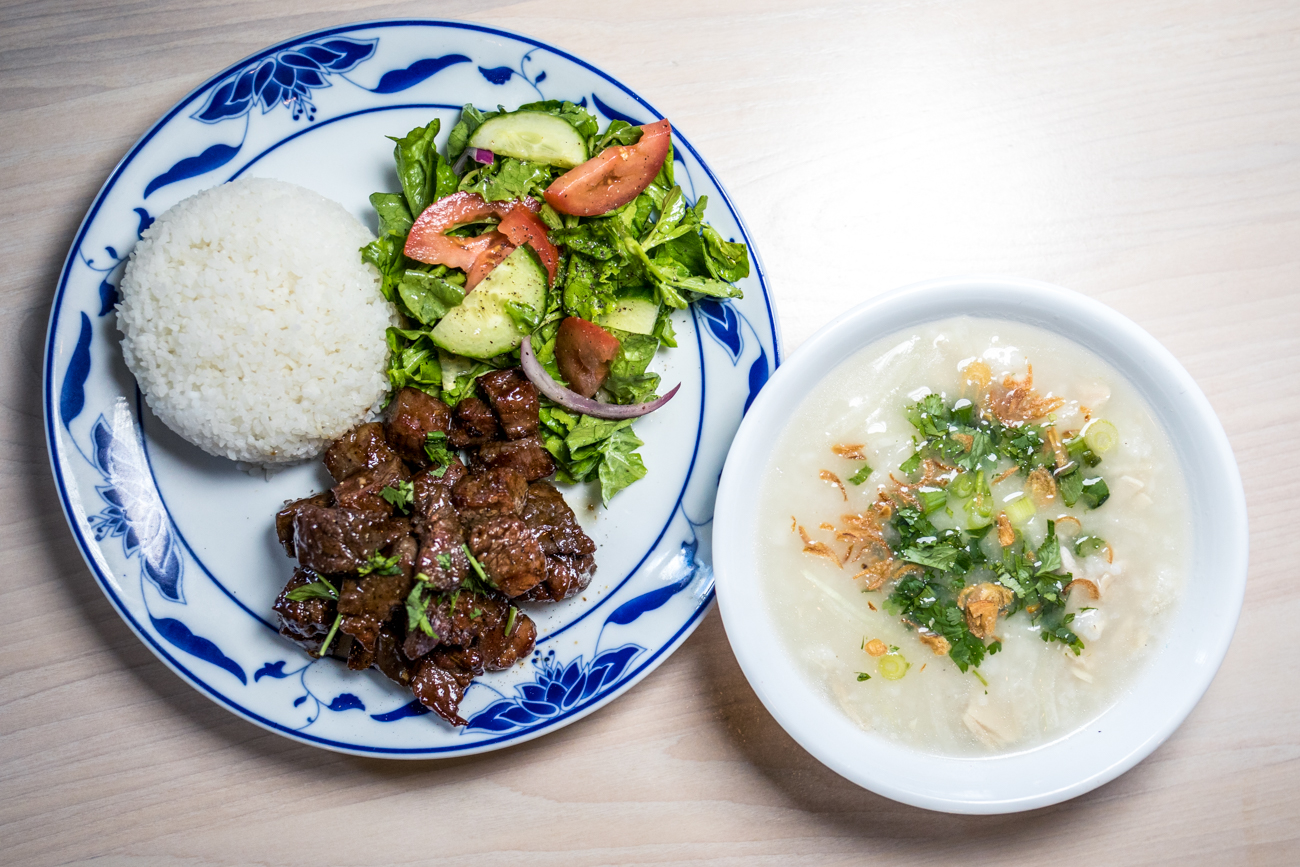 "RESTAURANT: Pho Lang Thang / PICTURED: Bo Buc Lac, chicken Kanji, and watercress salad / ADDRESS: 1828 Race Street (Over-the-Rhine) / PHONE: 513-376-9177 / WEBSITE:{&nbsp;}<a  href=""https://www.pholangthang.com/"" target=""_blank"" title=""https://www.pholangthang.com/"">pholangthang.com</a>{&nbsp;}/ Image: Catherine Viox // Published: 11.2.20"