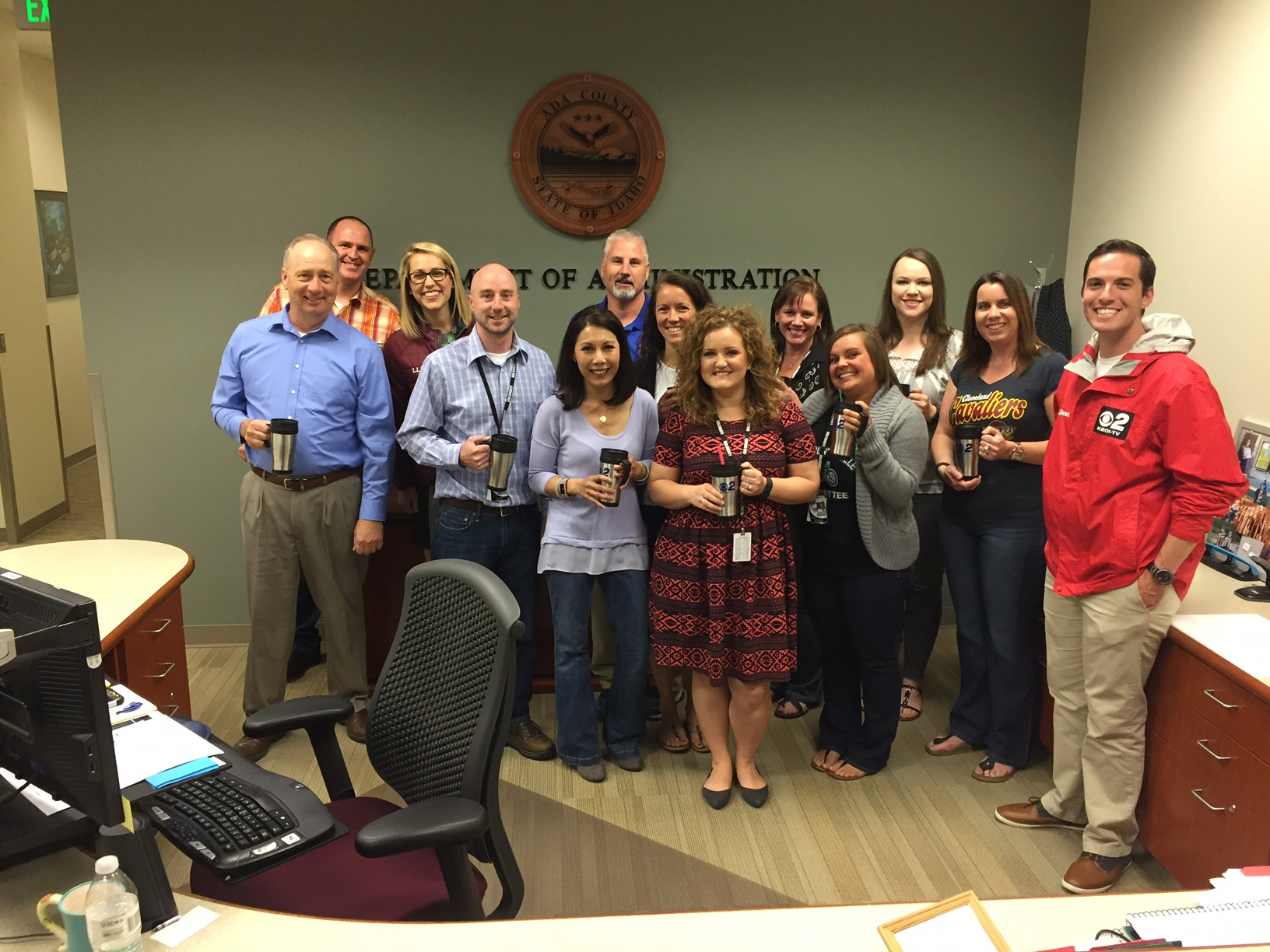 Mugshot Mondays: This week's winner is the Ada County Department of Administration in Boise! Bryan Levin and Kelsey Anderson helped deliver free Dutch Bros. Coffee and KBOI mugs! Want your business to be next? Enter: http://bit.ly/1UoKo3X