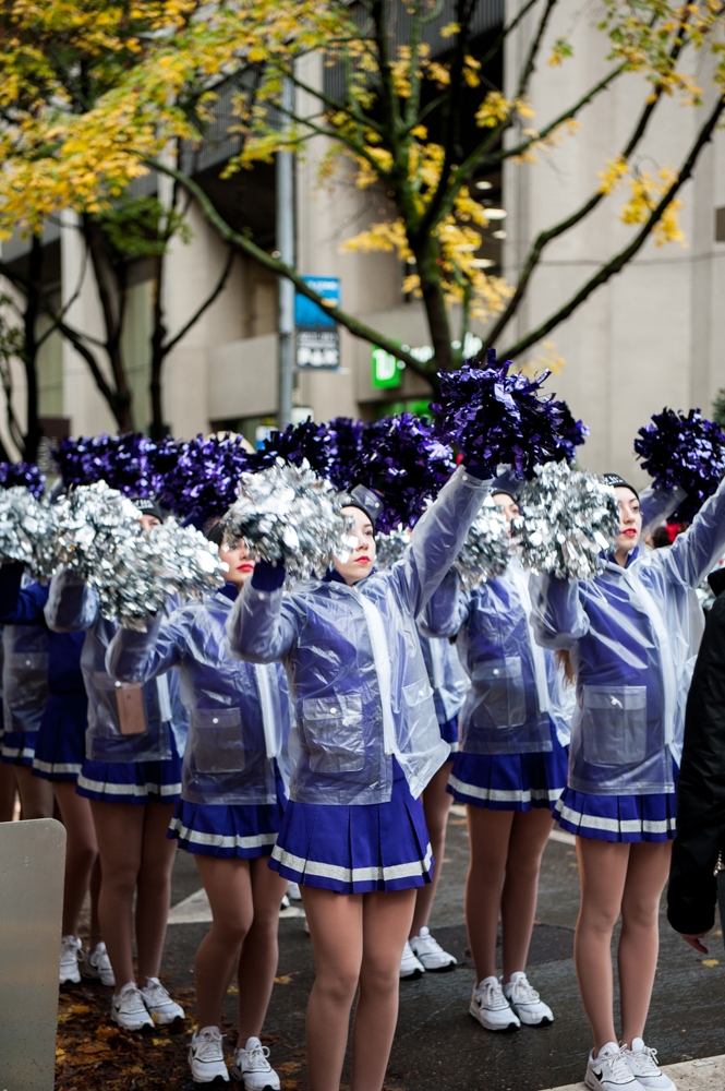 Still full? Us too! Good thing clicking through this gallery of the 28th Annual Macy's Holiday Parade in Seattle doesn't take much energy. You'll see inflatable floats, costumed characters, marching bands and drill teams at the yearly event that tours, rain or shine, thought the streets of downtown Seattle. (Image: Elizabeth Crook / Seattle Refined)