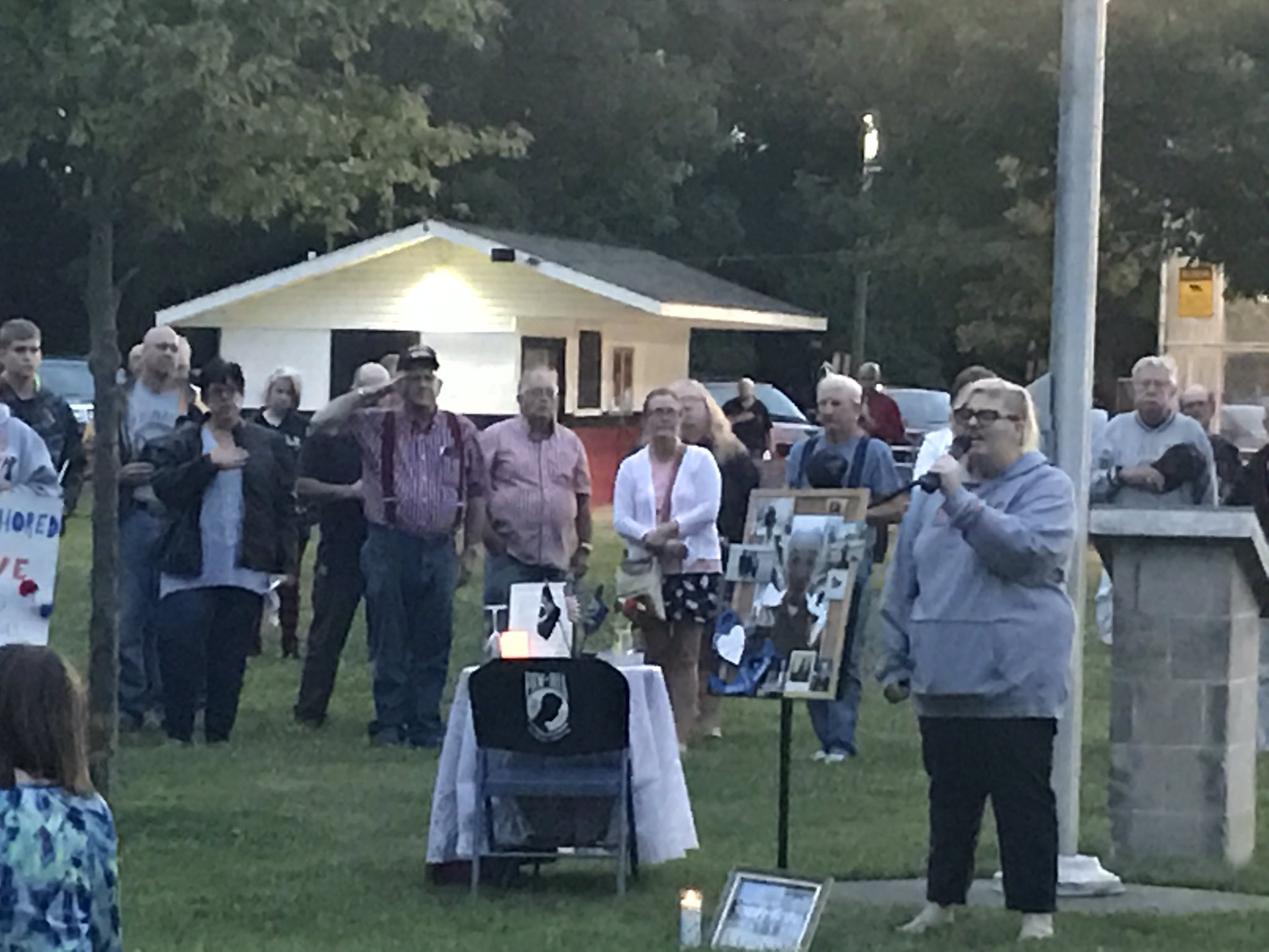 The town of North Lewisburg united to remember the life of a Navy man they hope will still be found alive. (WSYX/WTTE)