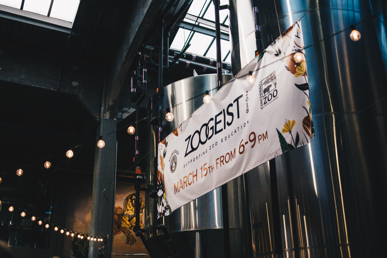 Zoogeist, a happy hour at Rhinegeist that brings Cincinnati Zoo and Botanical Garden animals to the taproom, was held on Thursday, March 15, 2018. Raffles, games and activities, and time with the animals were all part of the event programming. Proceeds made went to support the Living Classroom Education Access Fund. / Image: Catherine Viox // Published: 3.16.18