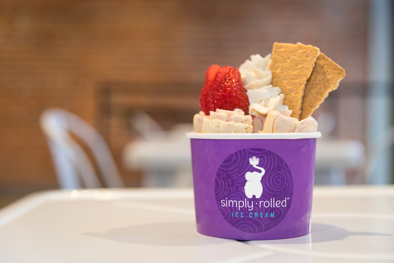 Simply Rolled is an ice cream parlor in Over-the-Rhine. Servers use a stylish method of preparation that culminates in little rolls of freshly made ice cream served vertically in a cup with various toppings. Customers can choose from one of the menu's templates (such as 'Strawberry Serenity' or 'Get S'more'), or they can create their own. ADDRESS: 32 W. 12th Street (45202) / Image: Phil Armstrong, Cincinnati Refined // Published: 8.6.18