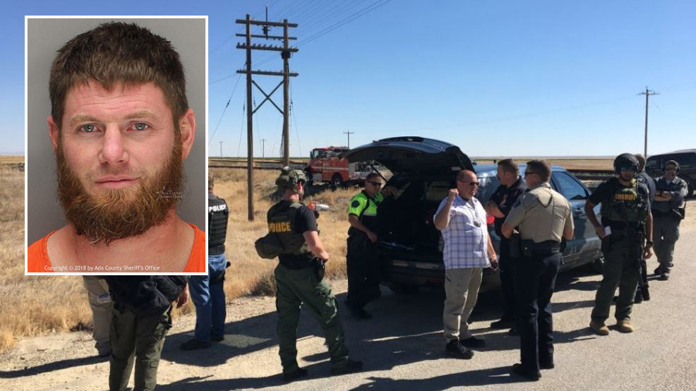 Man accused of hitting Ada County deputy's vehicle, 100 mph chase taken into custody