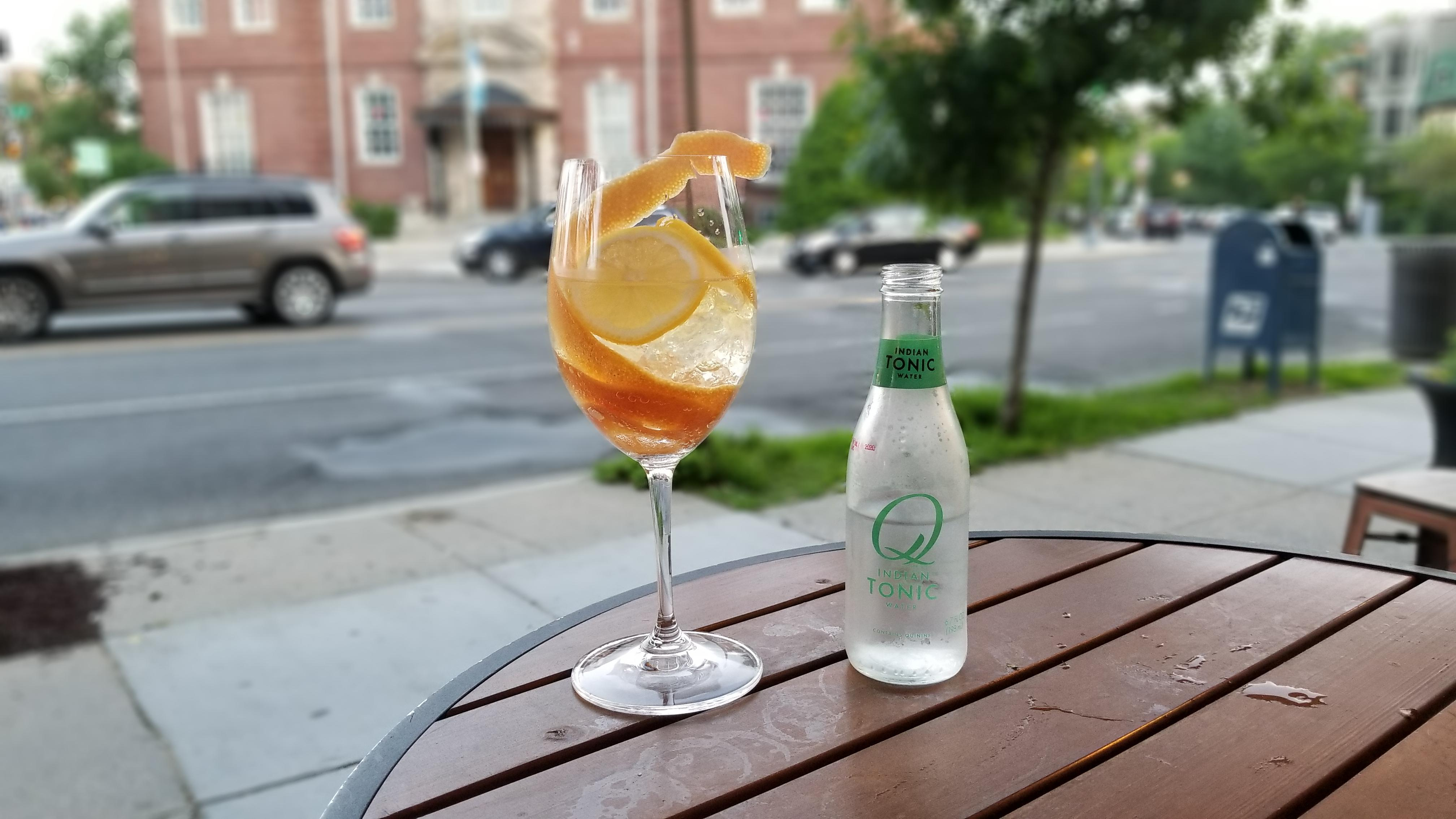 "The ""Spanish Evening"" features saffron and grapefruit peel infused Fords gin and Q East India tonic. (Image: Courtesy McClellans Retreat)"