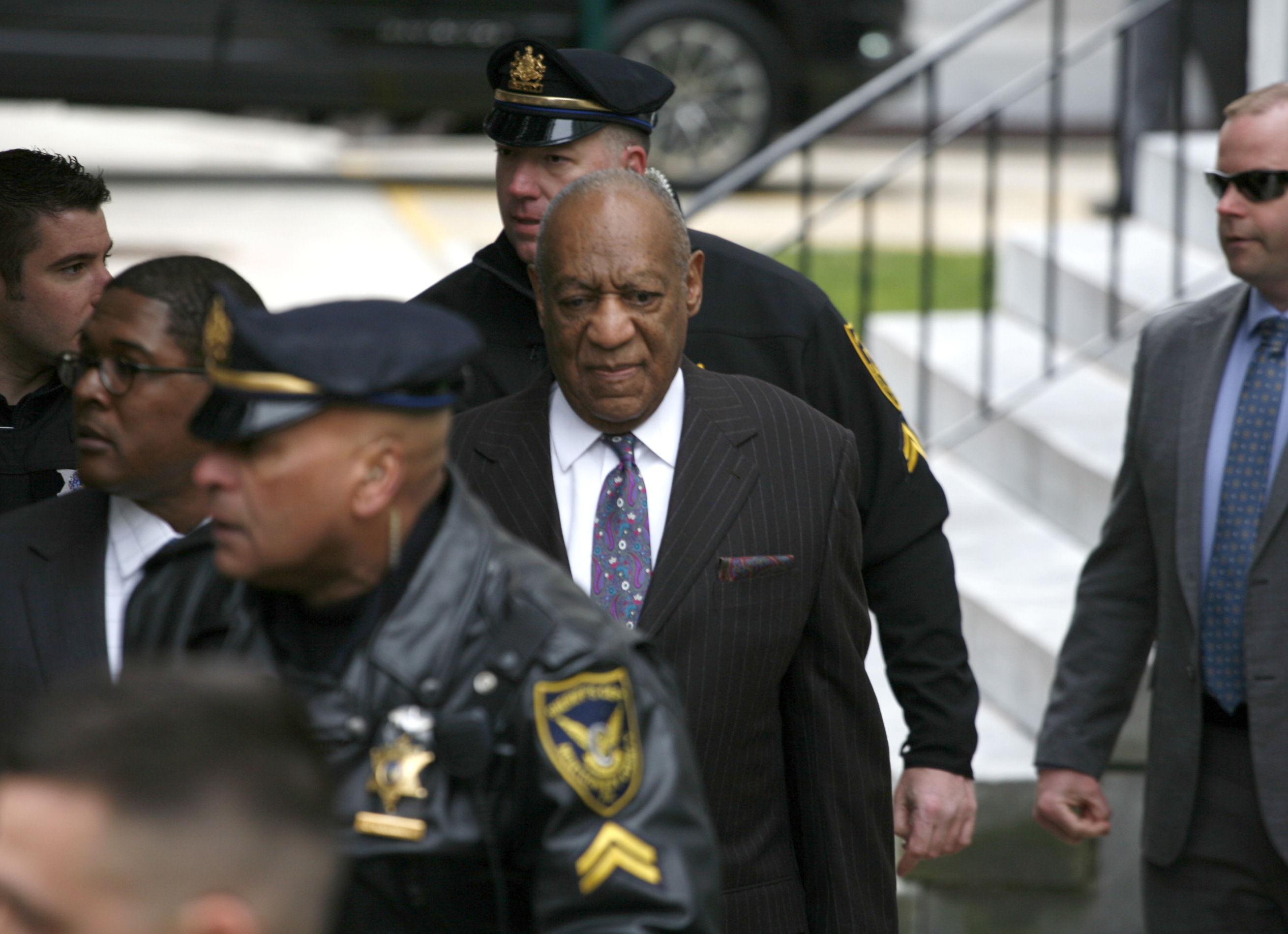 Bill Cosby arrives at Montgomery County Courthouse in Norristown, Pennsylvania. (When: Apr. 8 2018.Credit: W.Wade/WENN)