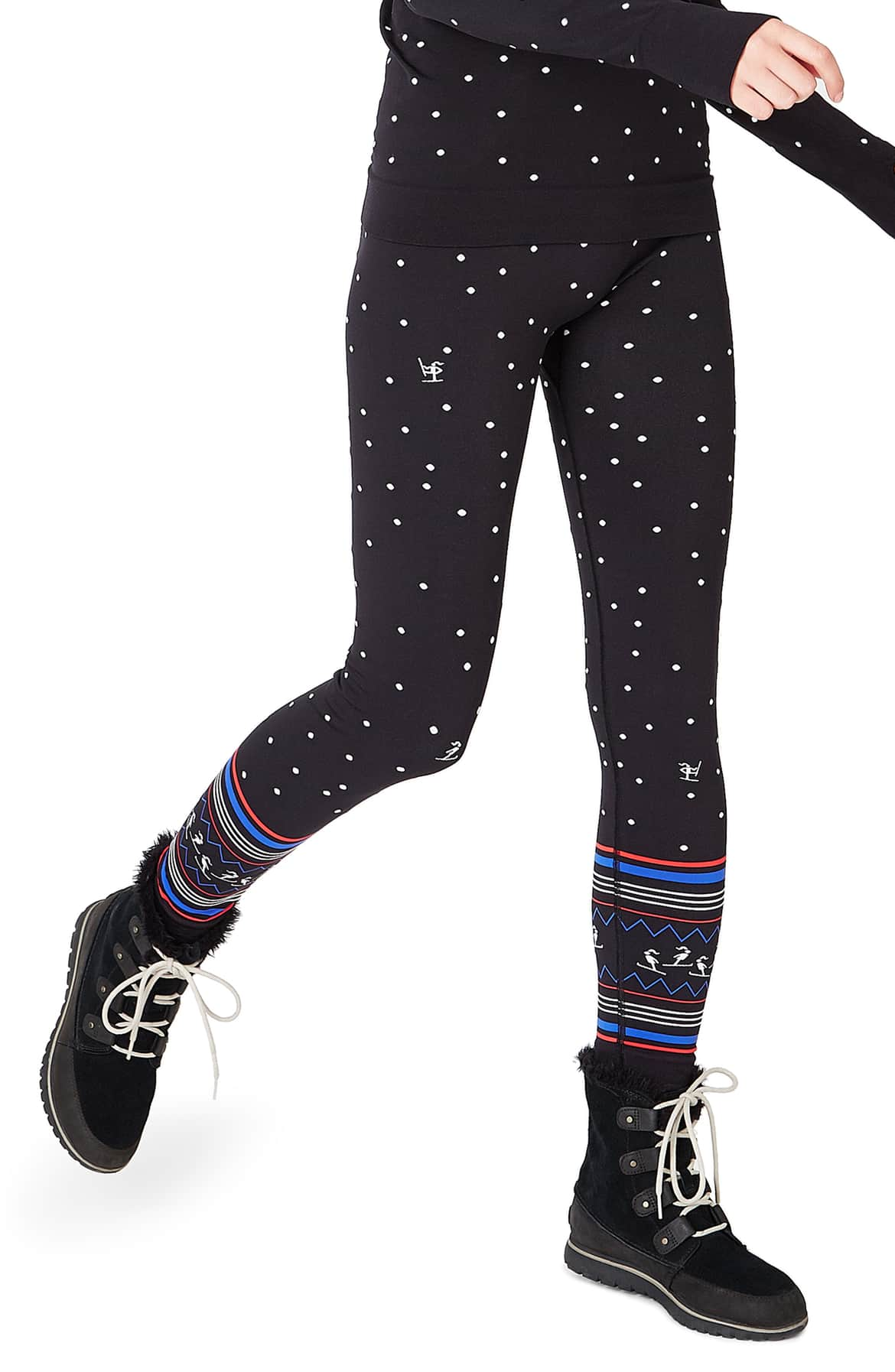 Hit the slopes in these wintry leggings made from sweat-wicking, quick-drying fabric. $105 (Image: Nordstrom){ }