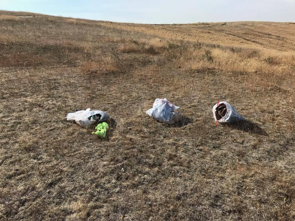 A Fruitland man says he discovered three dead puppies in plastic trash bags in rural Payette County last week. (Mike Rohrer Courtesy)