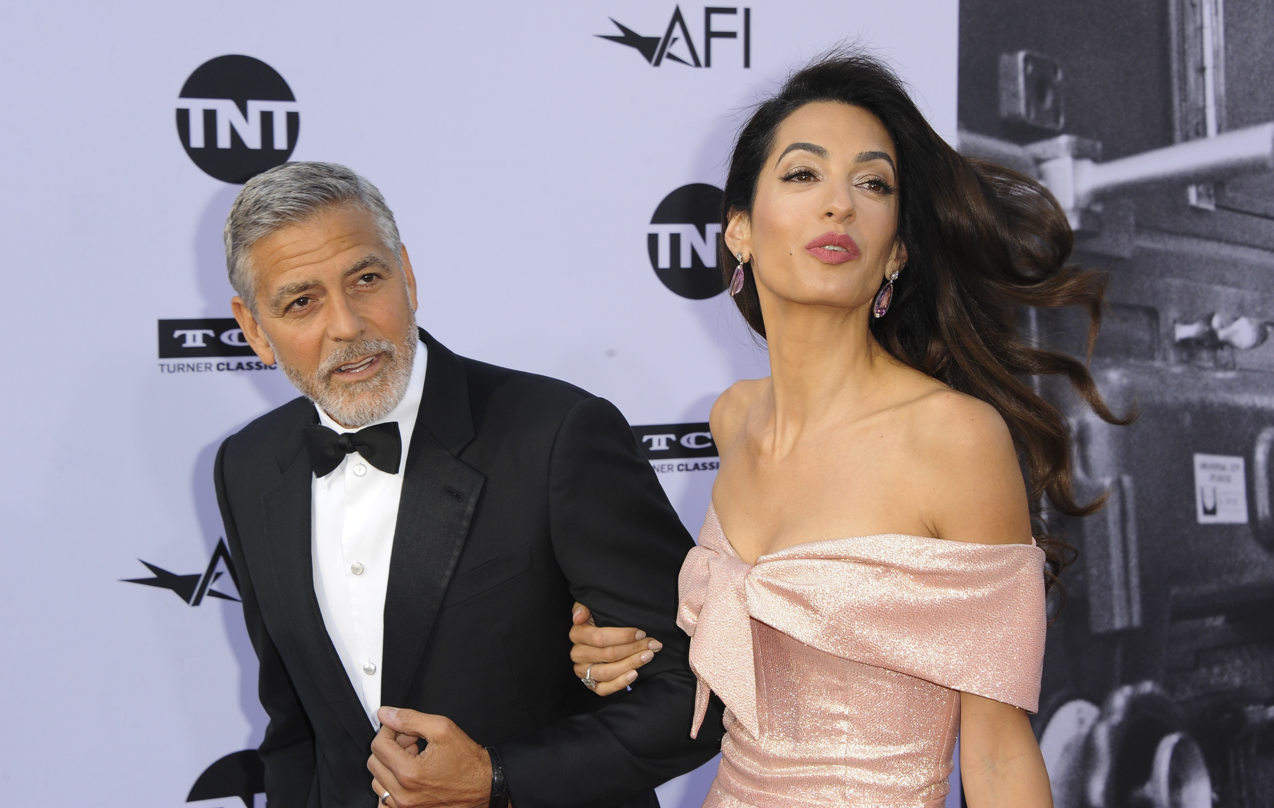 George Clooney and Amal Clooney at the 46th AFI Life Achievement Awards in Los Angeles, California on June 8, 2018. (Apega/WENN.com)