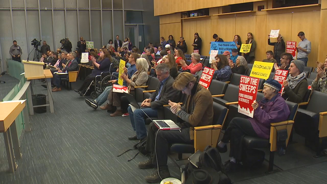 A controversial head tax on Seattle's largest businesses failed in a 5-4 vote by the Seattle City Council on Tuesday.{ }The tax would have raised $25 million toward homeless projects and temporary housing. (Photo: KOMO News)