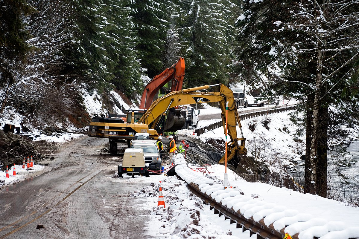 Highway 22 through the Santiam Canyon could open by mid-day Friday, the Oregon Department of Transportation said Thursday. (ODOT)