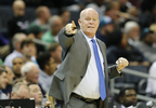 Charlotte Hornets head coach Steve Clifford instructs his players while facing the Milwaukee Bucks during the first half, Wednesday, Nov. 1, 2017, in Charlotte, N.C.
