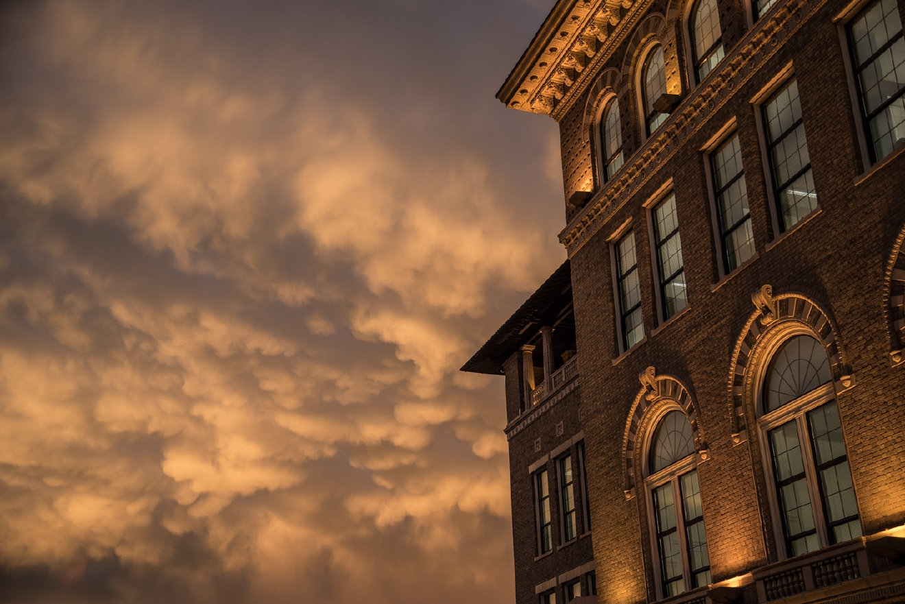 The city meets the sky at the Guilford School in Lytle Park / Image: Phil Armstrong, Cincinnati Refined