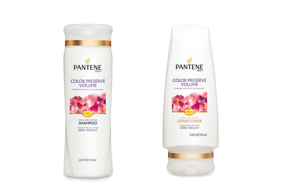This Pantene Color Preserve Voluminous Shampoo and Conditioner works wonders! ($4.59 a piece).                                                                                                                     (Image: Target)