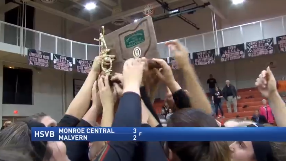 10.25.17 Highlights - Monroe Central wins district volleyball championship